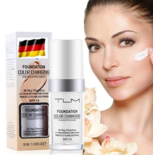 TLM Concealer Cover Abdeckung Farbwechsel Flüssige Grundierung Flawless All-In-One Foundation Color Changing Langhaltend Change Make up