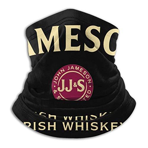 Jameson whisky irlandés Logo Png Unisex Microfibra Cuello calentador a prueba de viento a prueba de polvo Uv cuello bufanda