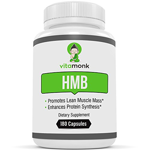HMB by VitaMonk - 180 Capsules Pure HMB Supplement for Increased Strength, Fat Loss and Faster Workout Recovery - Ideal for Recomps - 1000mg Per Serving, 500mg per Capsule