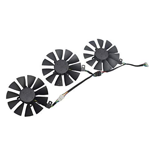 TISHITA 3 Paquetes de Ventilador de Tarjeta Gráfica de 4 Pines para Computadora Nueva