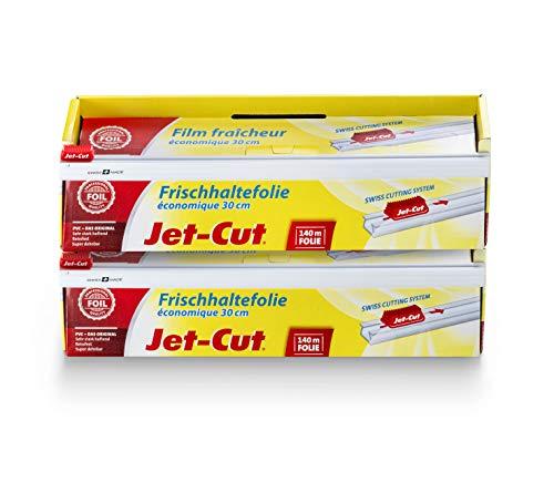 Jet-Cut Film de Plástico para Cortar Jet-Cut, Hostelería 30 x 140M, Pvc Transparente, Paquete Ahorro con 2 Unidades 1160 g