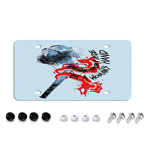 Break Their Pride License Plate Decorative Car Front License Plate,Vanity Tag,Metal Car Plate,Aluminum Novelty License Plate,6 X 12 Inch (4 Holes)