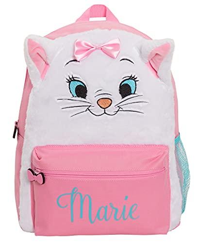 The Aristocats Marie Sac à dos en peluche pour fille Motif chat Rose, blanc/rose, Taille unique, Sac à dos