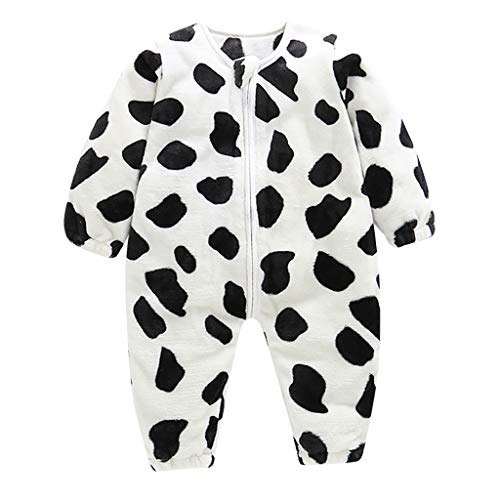 Fantastic Deal! Toddler Baby Boys Girls Romper Pajamas Cute Animal Stripe Thick Warm Flannel Sleepin...