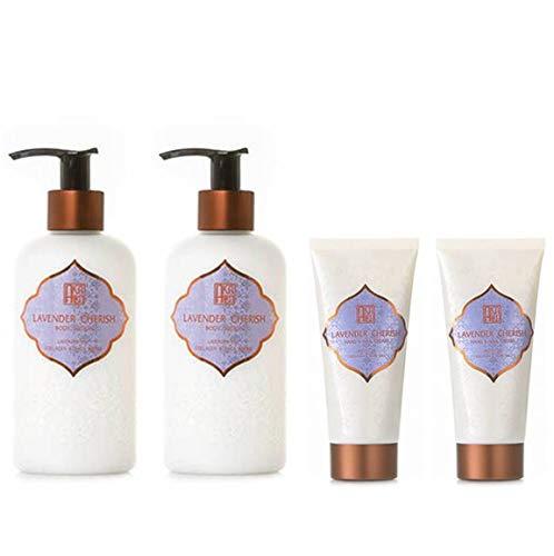 AKALIKO Lavender Cherish Body Lotion and Lavender Cherish Hand Cream - Set B.