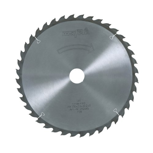 MAFELL 92465 HM-Kreissägeblatt, Z40 WZ, 250 mm x 2,8 mm x 30 mm