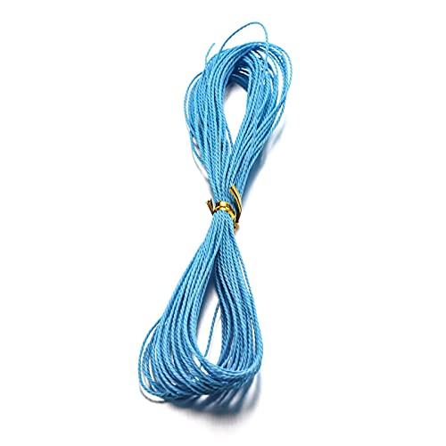 BOSAIYA PJ1 28 Colores 10M / PC 1 mm Cuerda de Cuerda de Abalorios de Cadena de Cadena de algodón Encerado para Bricolaje Collar Hecho a Mano Bracele Joyería Mensajes Tl708 (Color : 6)