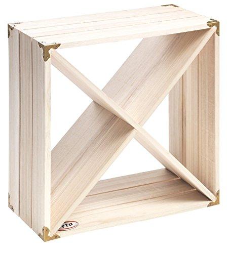 RTA Retro Weinregal Cube, Holz, Naturholz, 12Flaschen