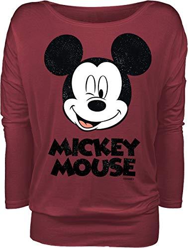 Micky Maus Twinkle Frauen Langarmshirt rot XXL 95% Viskose, 5% Elasthan Disney, Fan-Merch, Filme