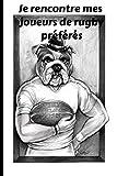 Je rencontre mes joueurs de rugby préférés: Carnet d'autograpCarnet d'autographes de joueurs de rugby, Carnet de rugby, livre de sports , Journal d'idoles
