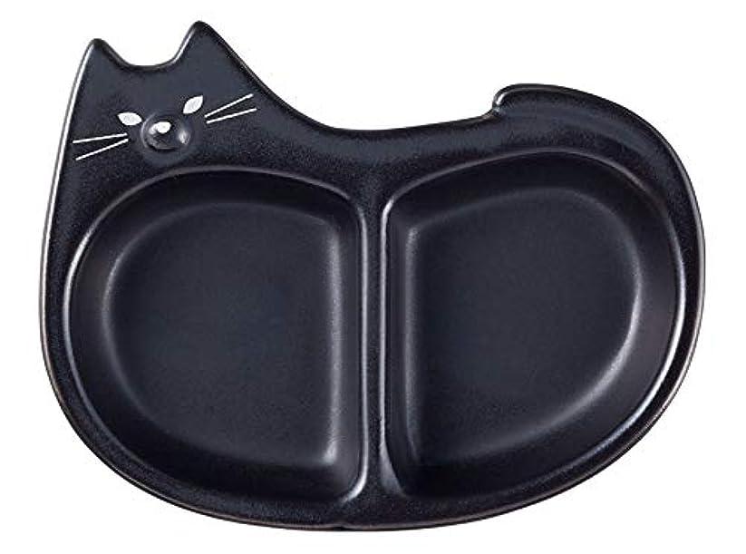 座る胃チチカカ湖デコレ(Decole) 薬味皿 ブラック 102×80×h20mm 猫 NA-92846