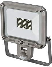 Brennenstuhl LED-strålare JARO 5000P/LED-lampa för utsidan med rörelsedetektor (LED-utomhusstrålkastare för väggmontering, LED-strålkastare 50 W av aluminium, IP44)