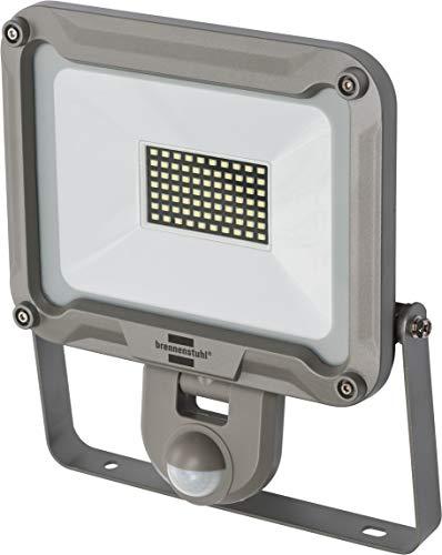 Brennenstuhl LED Strahler JARO 5000P / LED-Leuchte für außen mit Bewegungsmelder (LED-Außenstrahler zur Wandmontage, LED-Fluter 50W aus Aluminium, IP44)
