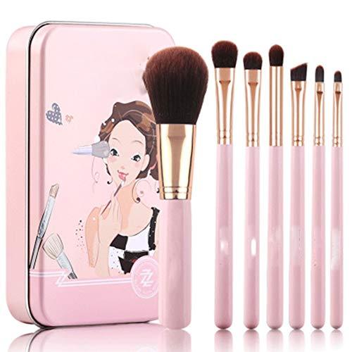 Ensembles de pinceaux de Maquillage Pinceau de Maquillage Set débutant Portable Box Tin Pinceau de Maquillage cosmétiques Pinceau de Maquillage Kit Idéal pour Pro et Utilisation Quotidienne