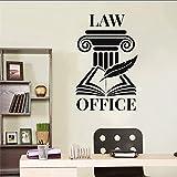 Pegatinas de pared,pegatina de arte y pegatina mural pluma letra despacho de abogados interior vinilo puerta y ventana pegatina oficina de justicia 57X87cm