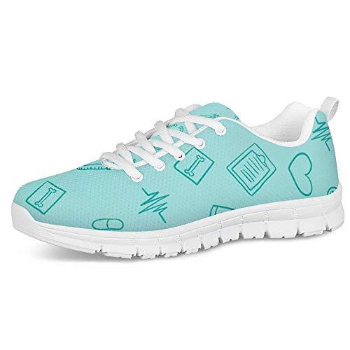 POLERO - Zapatillas deportivas para mujer y hombre, divertidas, con estampado de enfermera, tallas 36-45 EU