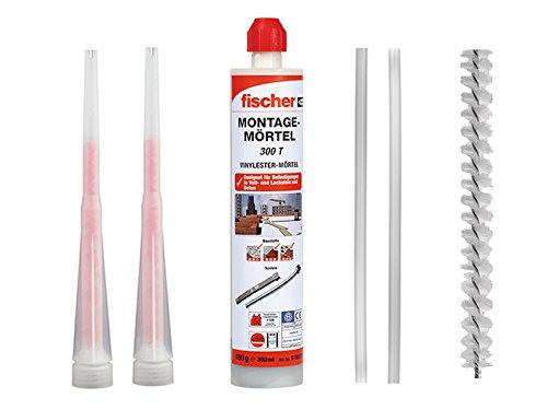 FISCHER 519557 Montagemörtel FIS 300 T Inhalt: 300ml Inkl. 2 Statikmischer, 2x Mischer Verlängerung, 1x Reinigungsbürste