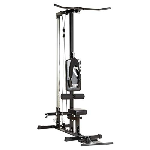 Mirafit Multi Gym Lat Pull Down Machine - For Back, Arm and Ab Exercises