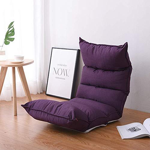 FEIGER Boden Stuhl klappbar verstellbar Lazy Tatami Bettstühle Schlafzimmer Erker Lazy Couch Kissen, F.