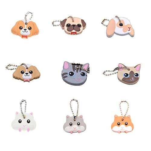 Kesheng Schlüsselkappen Schlüsselschutz Abdeckung Hund Katze Hamster Muster Farbig