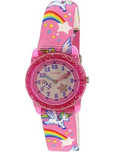 Timex Girl's Unicorn TW7C25500 Pink Nylon Japanese Quartz Fashion Watch