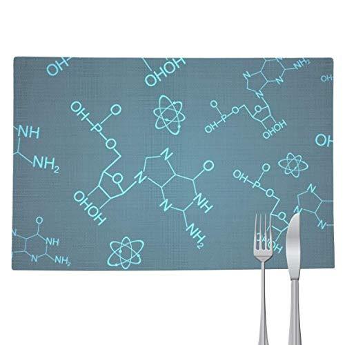 DIYthinker – Mantel individual, diseño de estructura molecular química, color azul