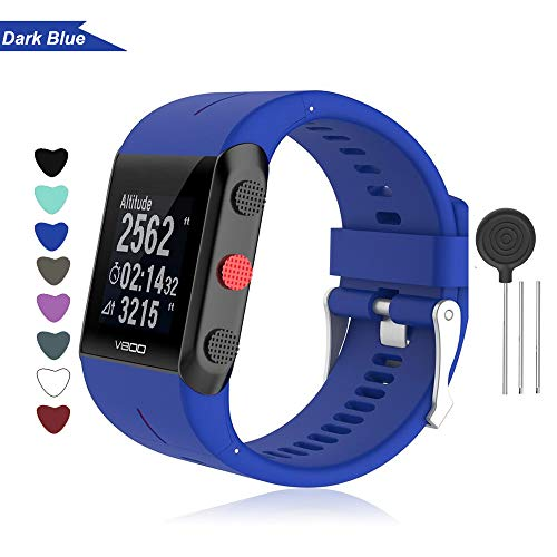 Bemodst Armband für Polar V800 Smart Watch, Silikon Uhrenarmband Ersatz Zubehör Uhrenarmbänder Sport Handgelenk Ersatzband Uhr Gurt für Polar V800 Fitness Tracker (dunkelblau)