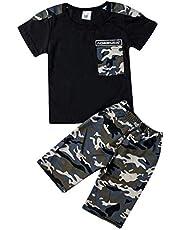 CRAZY GOTEND Conjunto de ropa de para niños pequeños conjuntos de ropa para bebés cálidos trajes de camuflaje para niños pequeños y niñas (3 colores de 18 meses a 8 años)