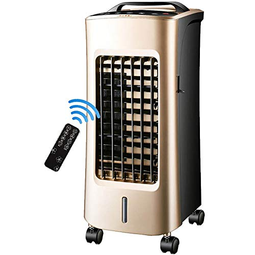 SMINNG Portatil Aire Acondicionado Frio Calor, Climatización Y Calefacción, Calefactor Mando A Distancia Purificador Temporizador 12h Y Tanque De Agua 5L Silenciosa para Casa U Oficina