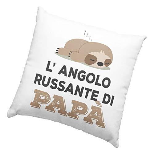 Cuscino L'angolo russante di papà, Cuscino 40x40cm per Chi Russa, Idea Regalo per Natale, Regalo...
