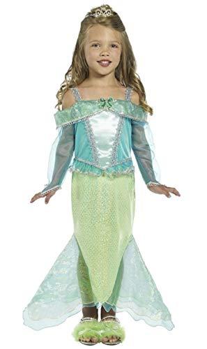 Fancy Me mädchen-grün Meerjungfrau Prinzessin Ariel Film TV Comicfigur büchertag Märchen Märchen Kostüm Kleid Outfit - Grün, 4-6 Years