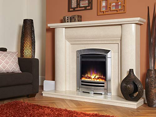 """New Designer Celsi Fire - Hearth Mounted Electric Fires 16"""" Electriflame XD Decadence Silver"""