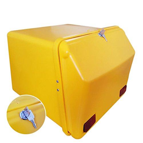 Portaequipajes Moto baúl Reparto Amarillo/Amarillo con Reflectantes homologados, Cierre Cerradura
