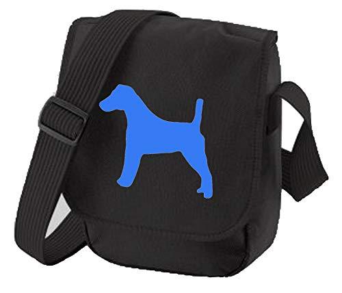 Fox Terrier Bolsa de reportero Bolsa de hombro para paseantes de perros, silueta de Fox Terrier Fox Terrier regalo de colores a elegir, color Negro, talla Small/Medium