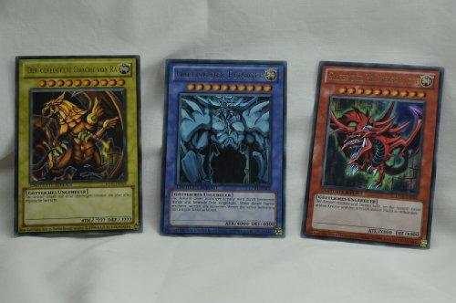 Yugioh - Set di 2 biglietti da Götterer, Obelisk, Slifer, Ra, LIMITATO AUFLAGE, Raro Yu Gi Oh