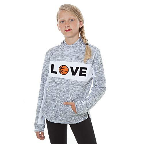 Basketball Hoodie- Love Sports Funnel Neck SweatshirtFanwear Player Girl's Gift