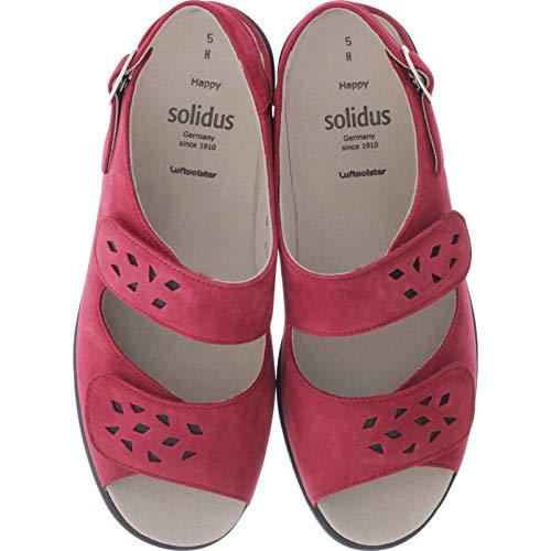 Solidus / Happy/Chili-Schwarz Leder/Weite: H / 23000-50249 / Damen Sandalen (6.5 UK)