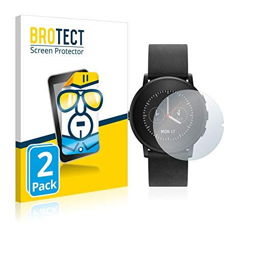 BROTECT Schutzfolie kompatibel mit Pebble Time Ro& (2 Stück) klare Bildschirmschutz-Folie