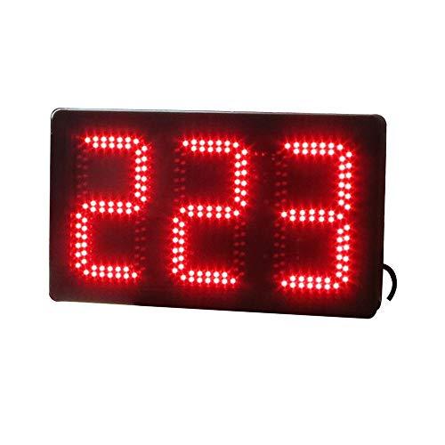 Countdown-Uhr Großes Digitale Stoppuhr Countdown-Timer-Intervall-Training Fitness-Studio Mit Fernbedienung Geeignet für Fitness-Studio Fitness (Farbe : Schwarz, Größe : 47X28X9CM)