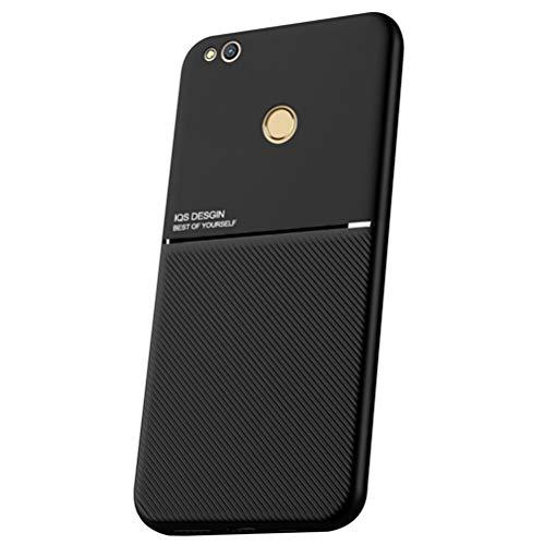 MOONCASE Huawei P8 Lite (2017) Funda, Carcasa de TPU Suave y a Prueba de Golpes Diseño único Antideslizante Funda para Huawei P8 Lite (2017) 5.2' - Negro
