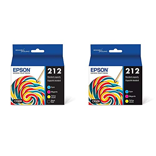 Epson T212 Claria Standard Capacity Cartridge Ink - Black and Color Combo Pack & T212 Claria Standard Capacity Cartridge Ink - Color Combo Pack
