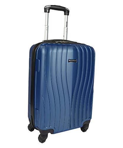 Mala de Viagem Pequena Zigma Azul Sestini 360 Graus ABS