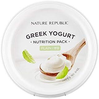 Overnight Moisturizing Sleep Mask Sheet - Nature Republic Greek Yogurt Pack Plain 130 ml / 4.39 fl. oz.