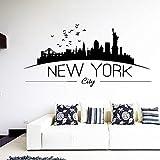 Ciudad De Nueva York Etiqueta De La Pared Decoración Del Dormitorio Decoración De La Sala Etiqueta De Vinilo Decoración Para El Hogar Papel Tapiz 30 Cm X 60 Cm