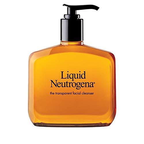 Liquid Neutrogena Fragrance-Free Gentle Facial Cleanser with Glycerin, Hypoallergenic & Oil-Free Mild Face Wash, 8 fl. oz