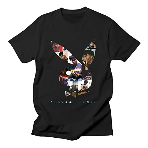 ILONSE Women's Playboi Carti Cover T Shirts Black