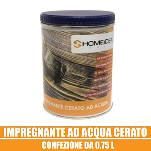 Home Idea Italia, Impregnante legno cerato 0,75 l (Teak)