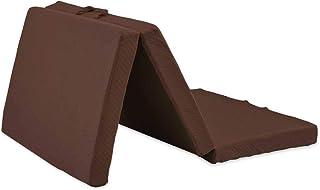 アイリスプラザ マットレス シングル 高反発 ダークブラウン 10cm 三折り 25D KUM3-F10-25D-S