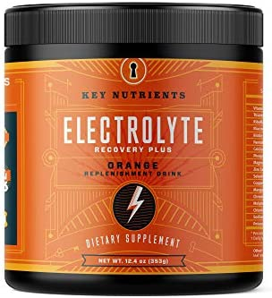 Electrolyte Powder Orange Hydration Supplement 90 Servings Carb Calorie Sugar Free Delicious product image