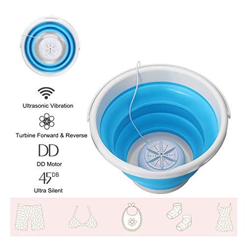 Folding laundry tub Basic & Upgrade Review - Mini Waschmaschine Camping-Waschmaschine Leichte Turbo-Waschmaschine Ultraschall Faltbarer USB-Stromversorgung für Campingwohnungen